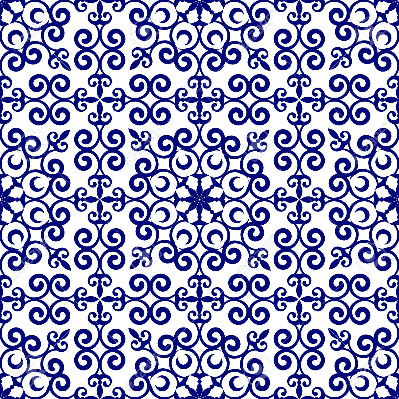 Porcelain Pattern Chinese And Japanese Style Blue And White Royalty Free Cliparts Vectors And Stock Illustration Image 112808959