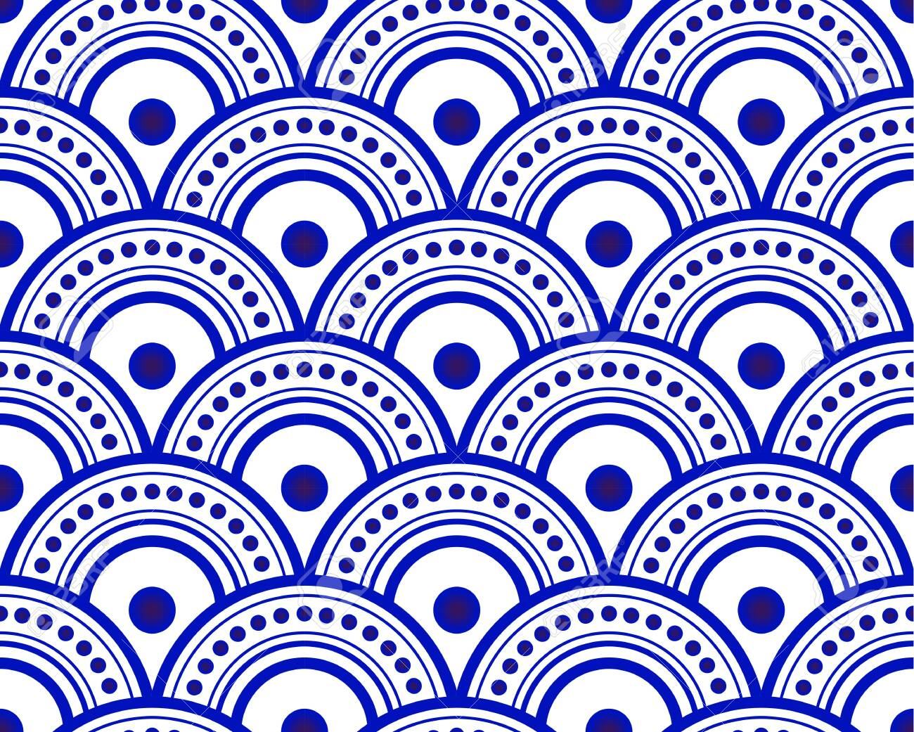Blue And White Japan And Chinese Seamless Pattern For Design Royalty Free Cliparts Vectors And Stock Illustration Image 123745604