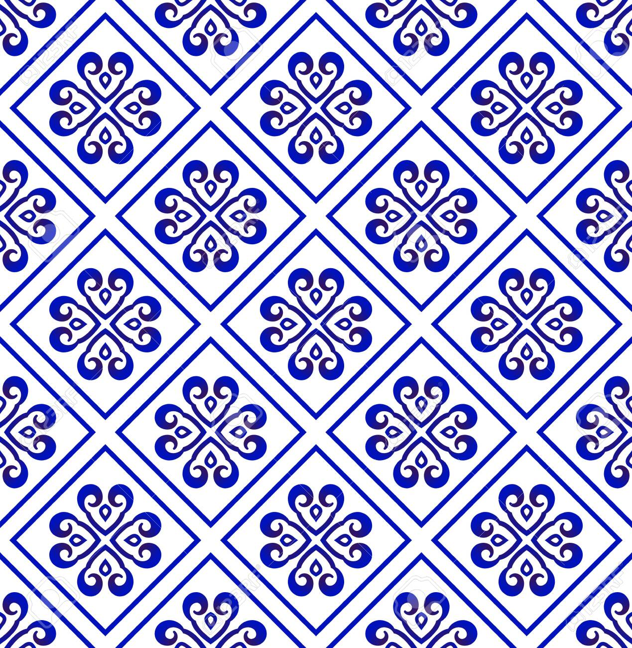 Blue And White Chinese Seamless Pattern For Design Porcelain Royalty Free Cliparts Vectors And Stock Illustration Image 133342300