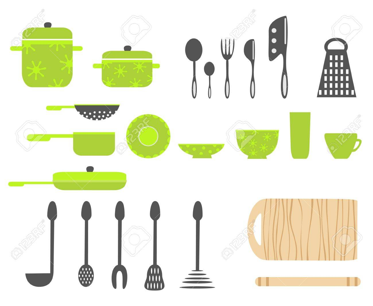 utensili da cucina clipart royalty-free, vettori e illustrator ... - Arnesi Da Cucina