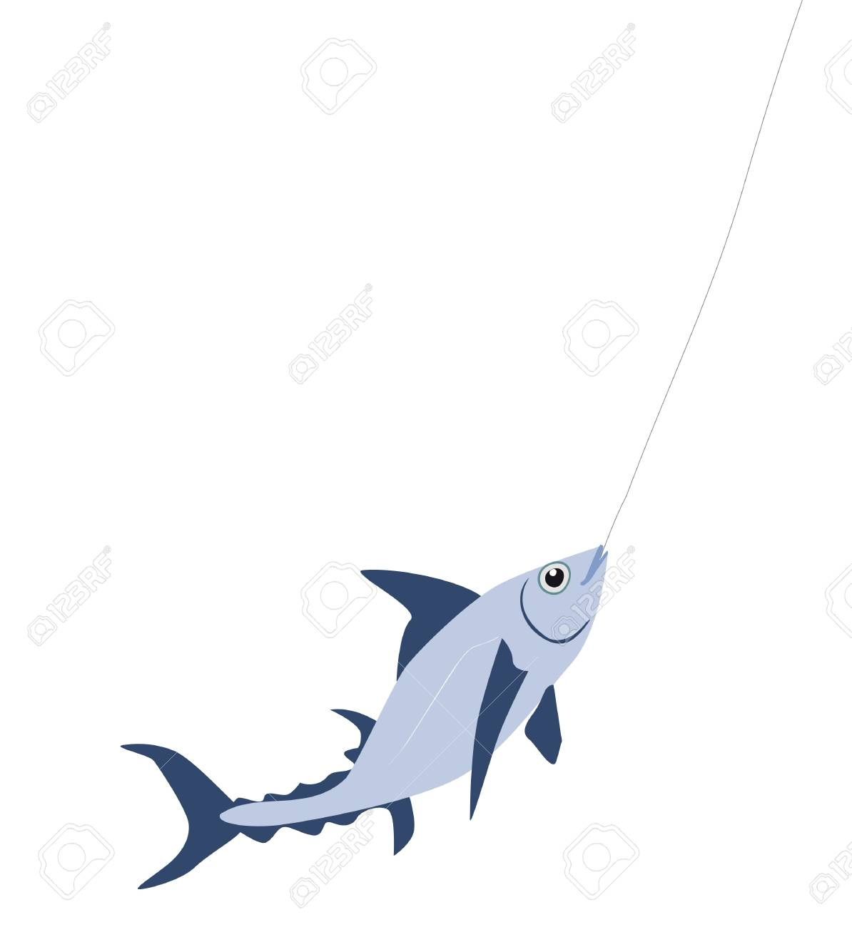 catching a fish background Stock Vector - 7797444