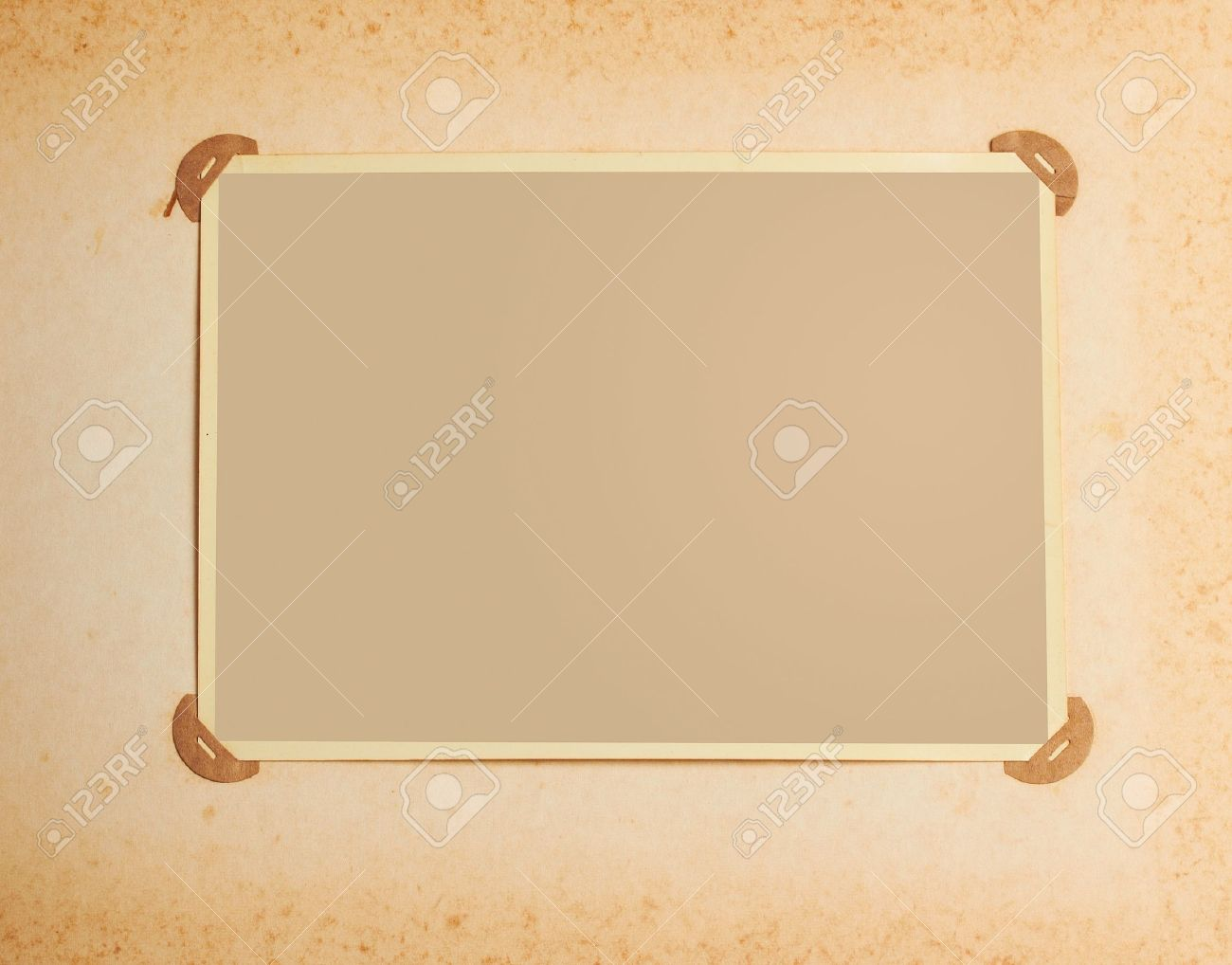Old Fashioned Photo Frame In Vintage Album Stock Photo Picture And