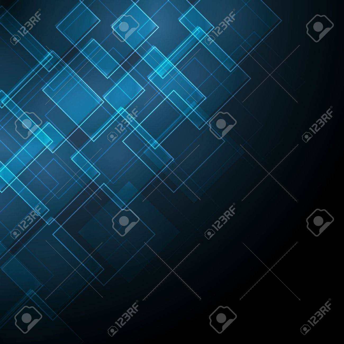 abstract dark blue background with rhombus Stock Vector - 15829926