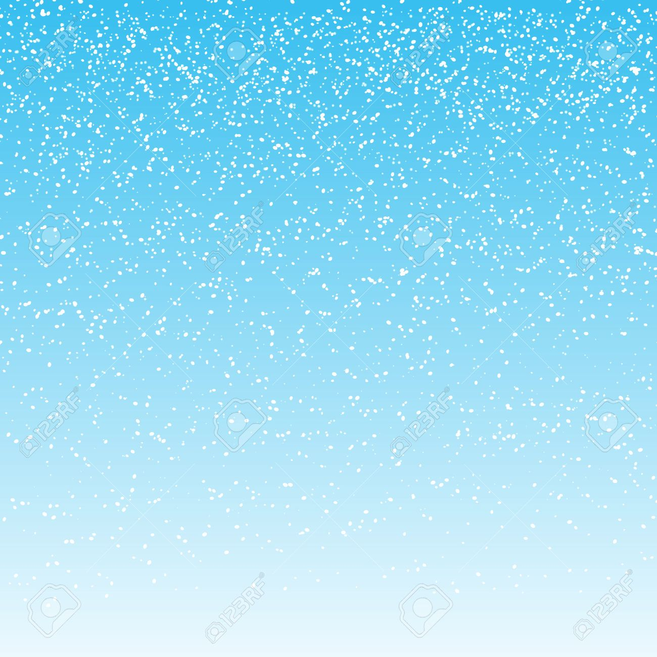 falling snow on light blue background. vector illustration - 50086529