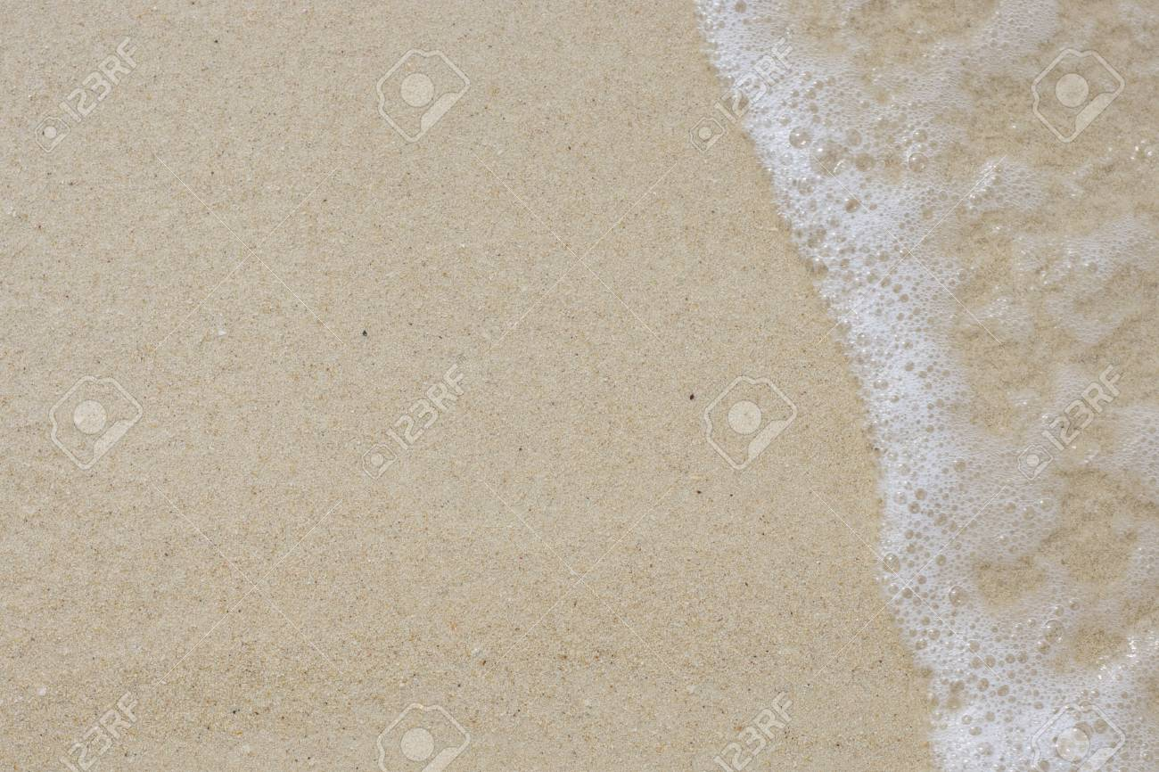 Soft wave of the sea on the sandy beach Stock Photo - 14591145