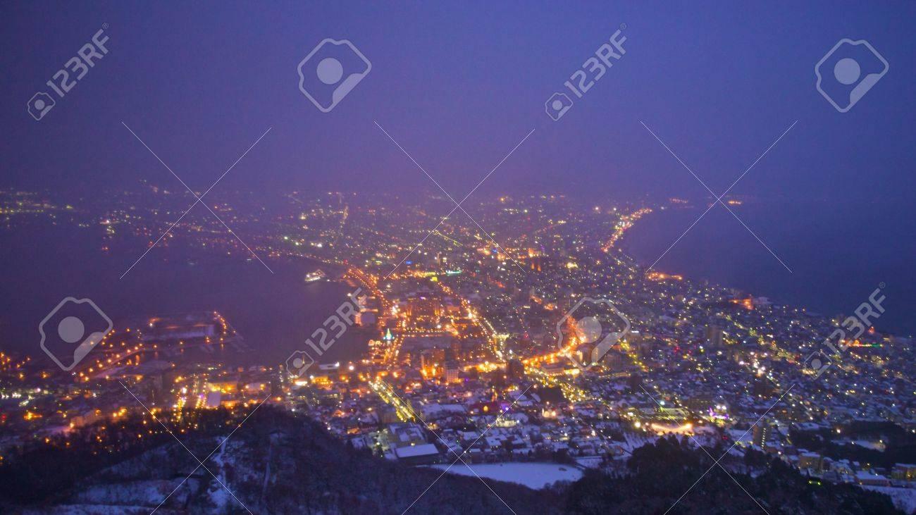 A famous night scenes in Hakodate, Hokkaido, Japan Stock Photo - 14617851