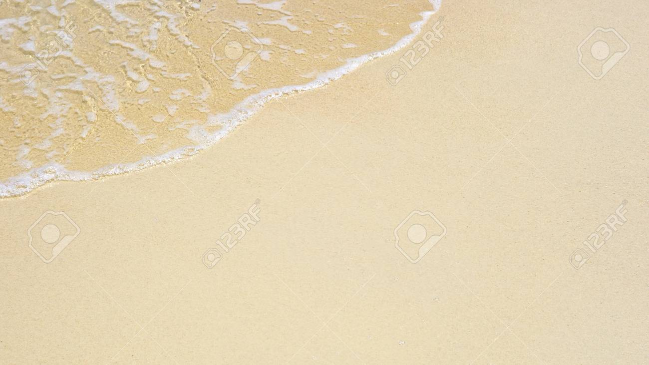 soft wave of the sea on the sandy beach Stock Photo - 15359439