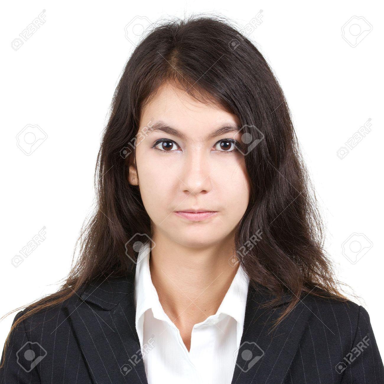 Overhemd Voor Pak.Pasfoto Van Jonge Aantrekkelijke Sexy Mooie Vrouw In Wit Overhemd En