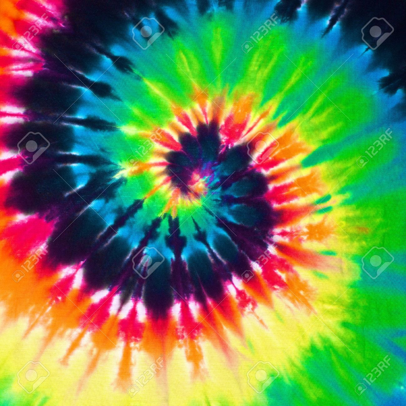742e643eba41 close up shot of colorful tie dye fabric texture background Stock Photo -  30020189
