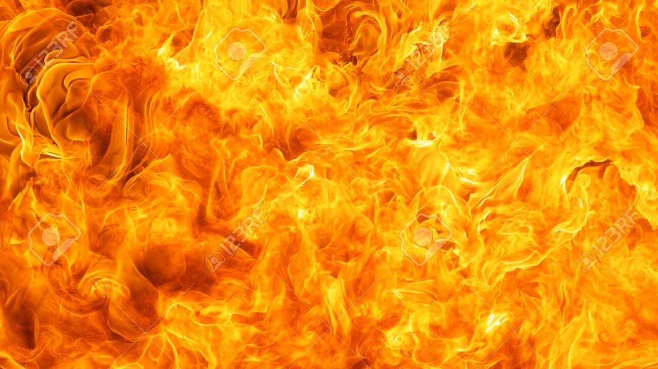 blaze fire flame conflagration texture background - 136247404
