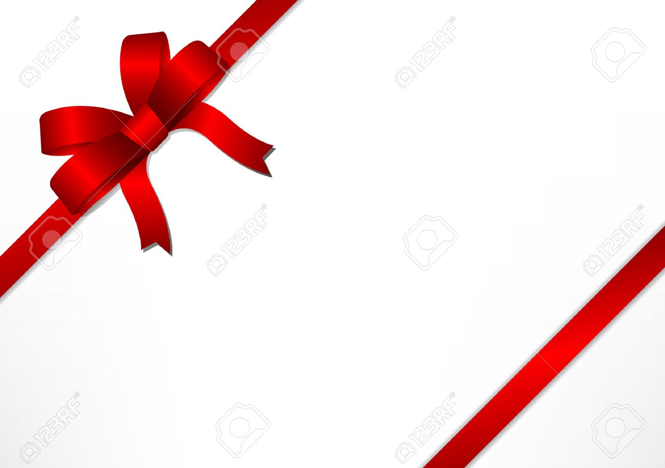 Red gift bows and ribbons on white gift box background for christmas red gift bows and ribbons on white gift box background for christmas new year and negle Images
