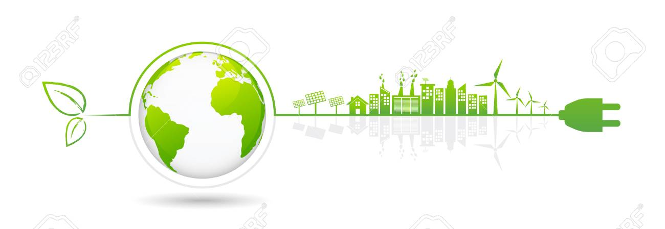 Banner design elements for sustainable energy development, Environmental and Ecology concept, Vector illustration - 91738065