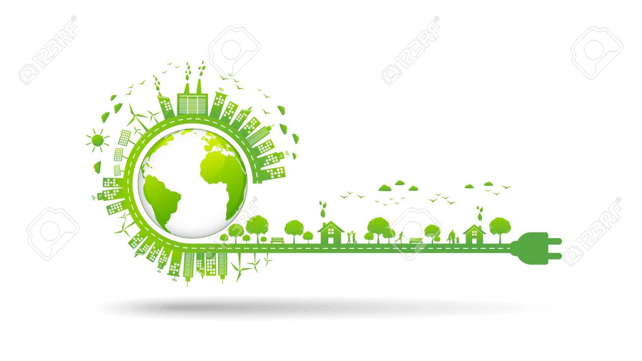 World environment and sustainable development concept, vector illustration - 121099465