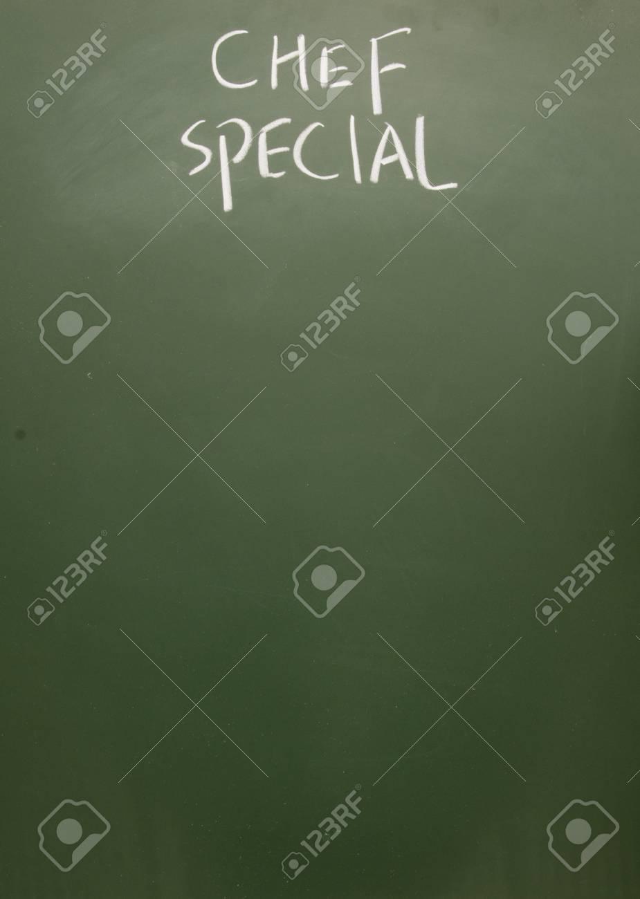 Koch-Special Mit Kreide Auf Tafel Gezeichnet Lizenzfreie Fotos ...