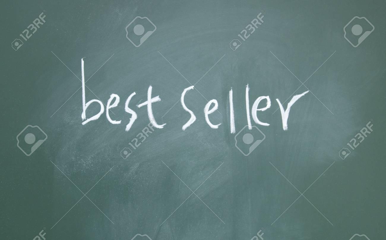 best seller title written with chalk on blackboard Stock Photo - 12049188