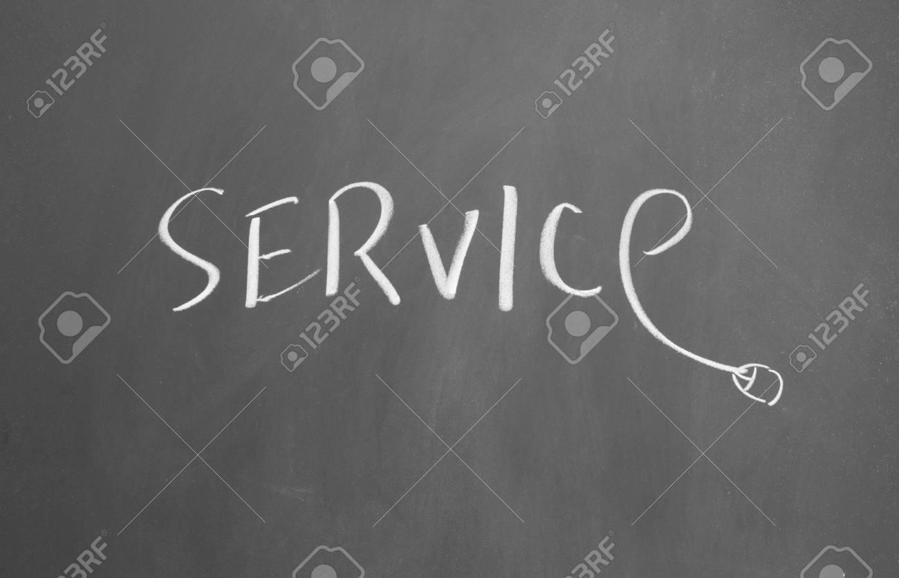 service drawn with chalk on blackboard Stock Photo - 12648298