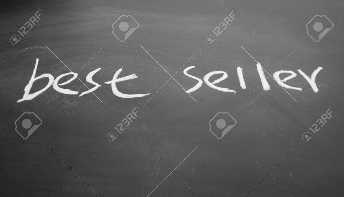 best seller title written with chalk on blackboard Stock Photo - 12648614
