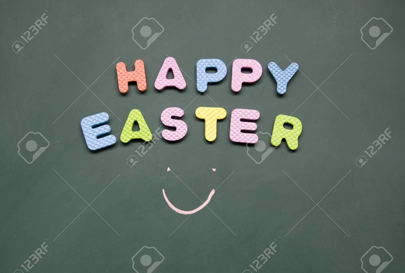 happy easter sign Stock Photo - 12829053