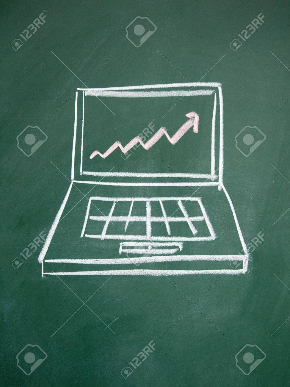 Notebook computers and chart Stock Photo - 12953642