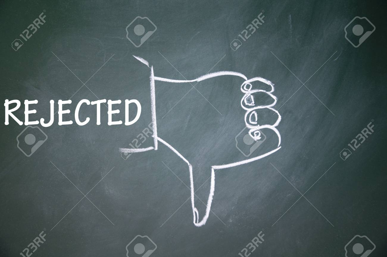 rejected and thumb down symbol Stock Photo - 13712282