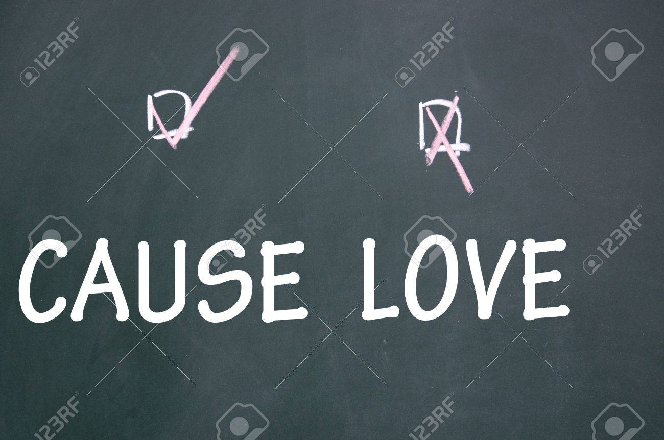 love or cause choice Stock Photo - 13712191