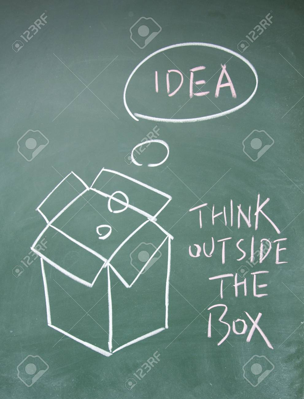 think outside the box symbol Stock Photo - 13833844