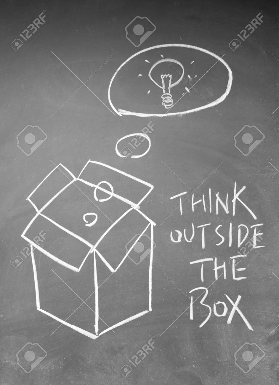 think outside the box symbol Stock Photo - 13833848