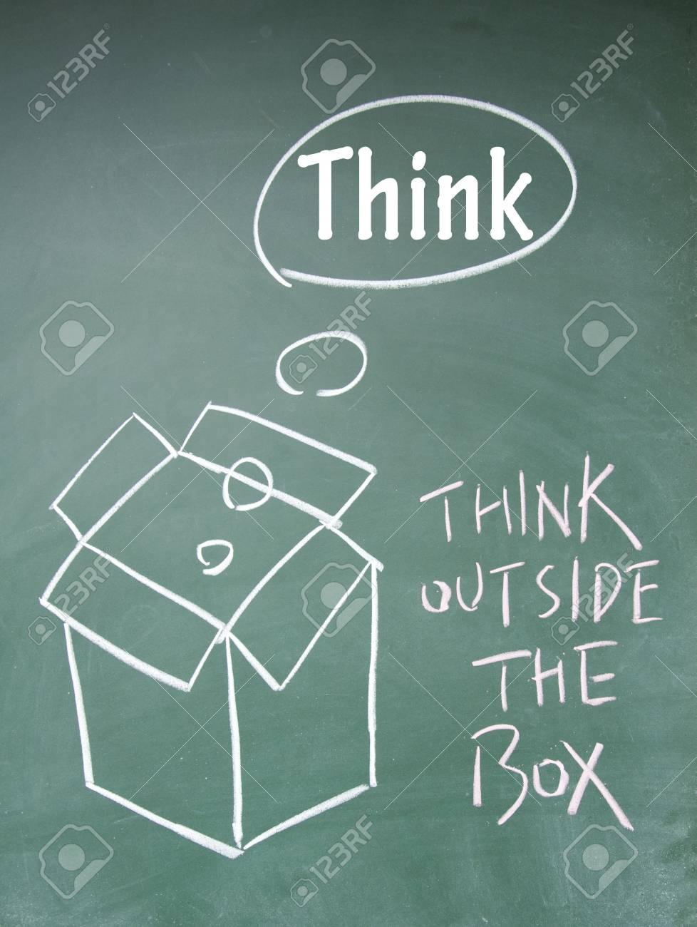 think outside the box symbol Stock Photo - 13851832