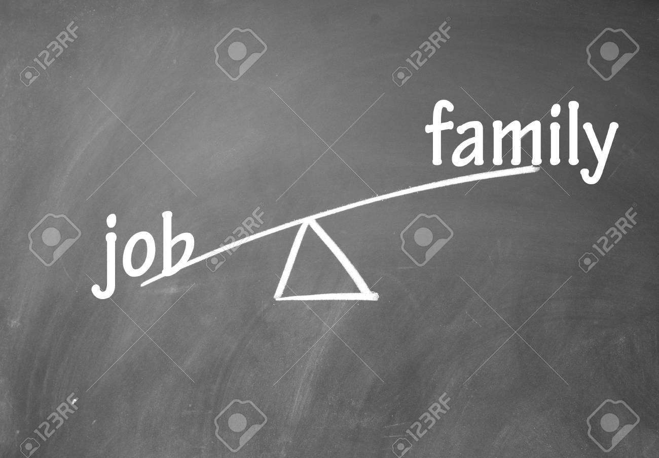 family and job choice Stock Photo - 13851665
