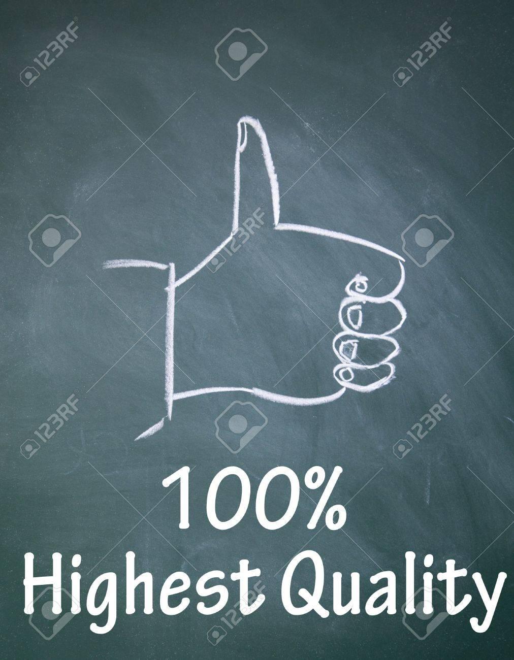 100  highest quality symbol Stock Photo - 13852177