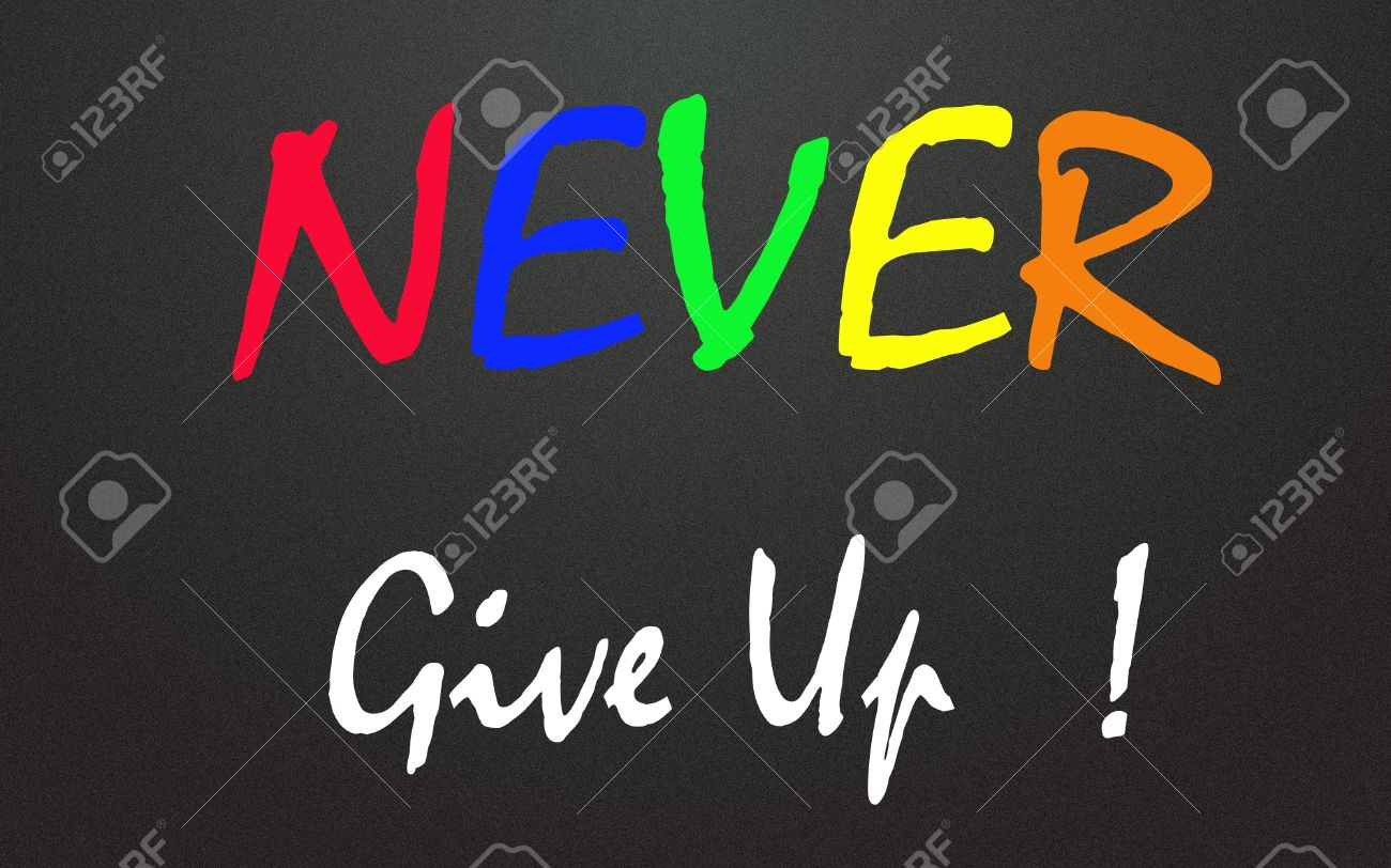 never give up symbol Stock Photo - 14164417