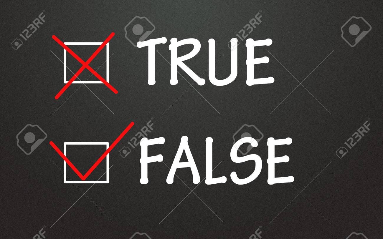 true and false choice Stock Photo - 14309009