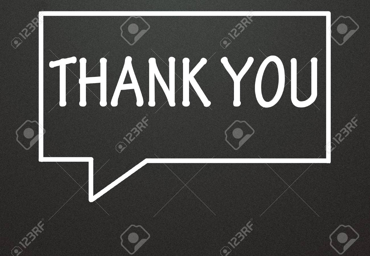thank you and chat symbol Stock Photo - 14309017