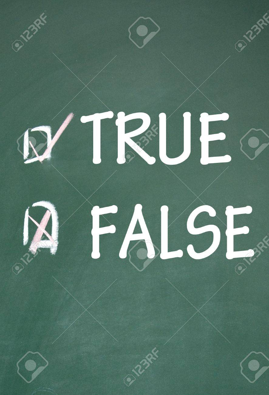 true and false choice Stock Photo - 14348721