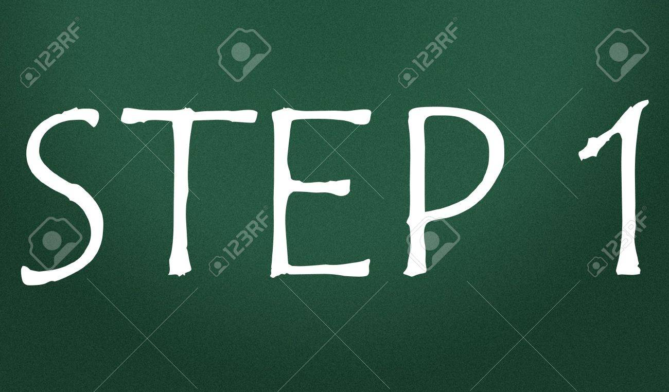 step 1 symbol Stock Photo - 14828246