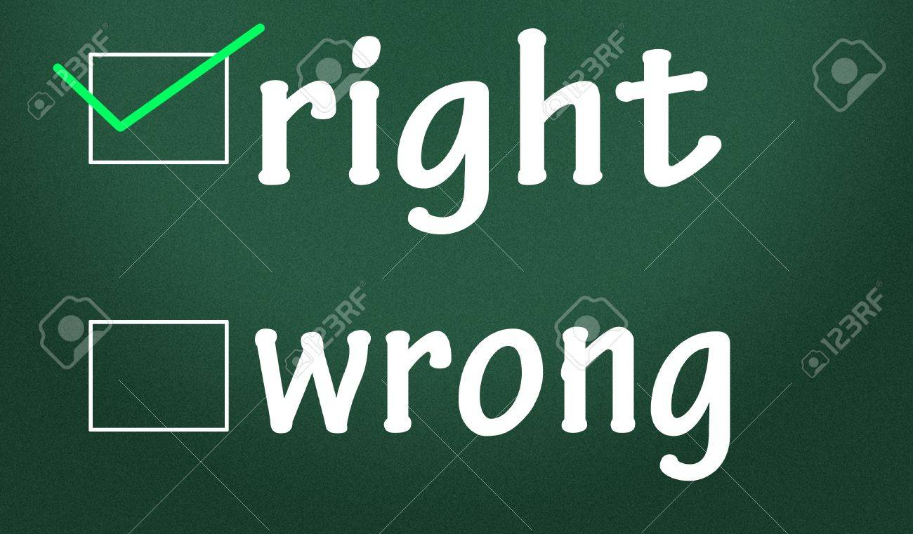 Right and wrong?