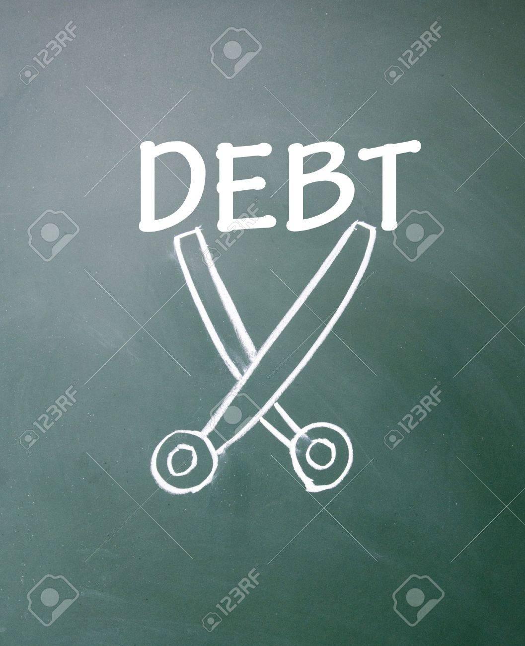 cut debt symbol Stock Photo - 14922302