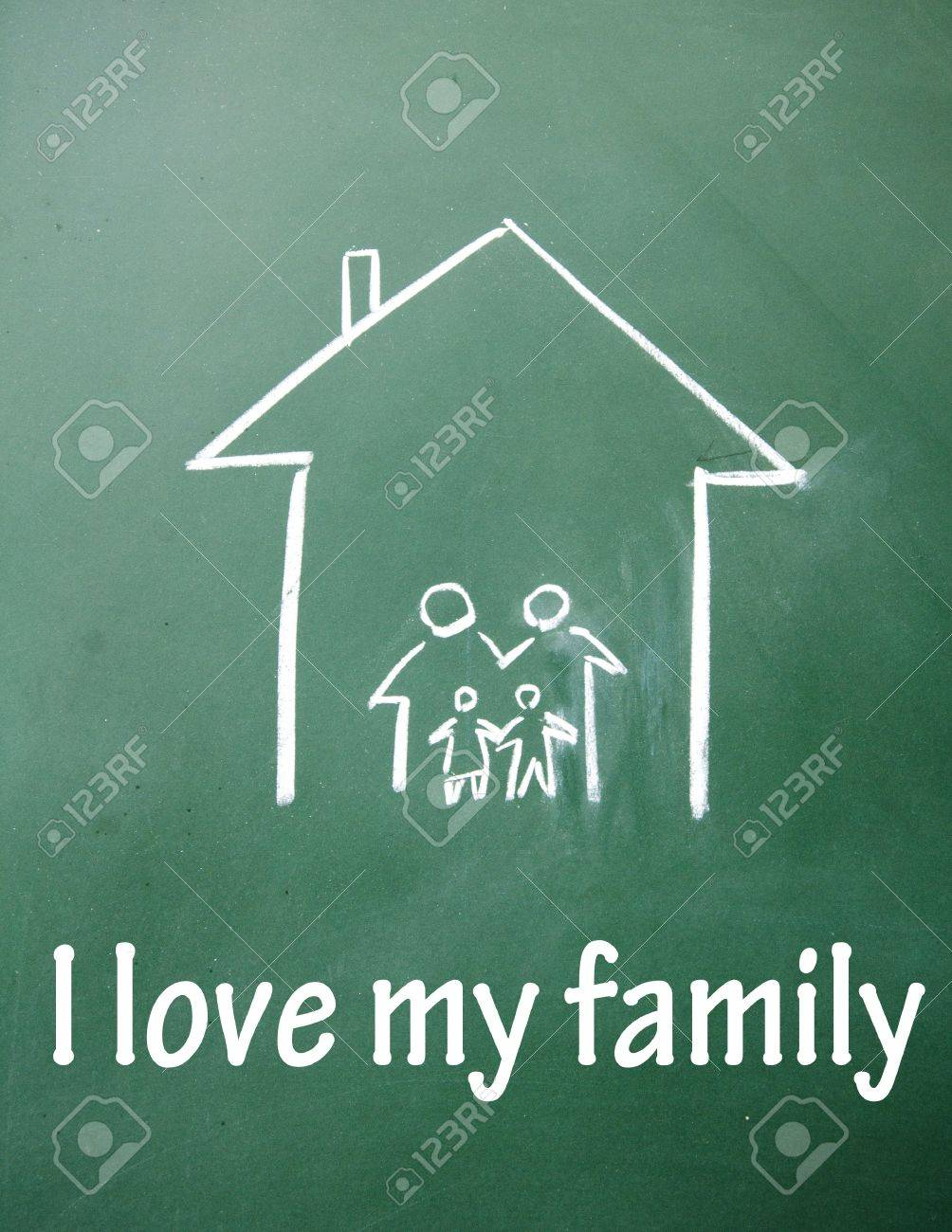 I love my family symbol stock photo picture and royalty free image i love my family symbol stock photo 14922451 buycottarizona Image collections