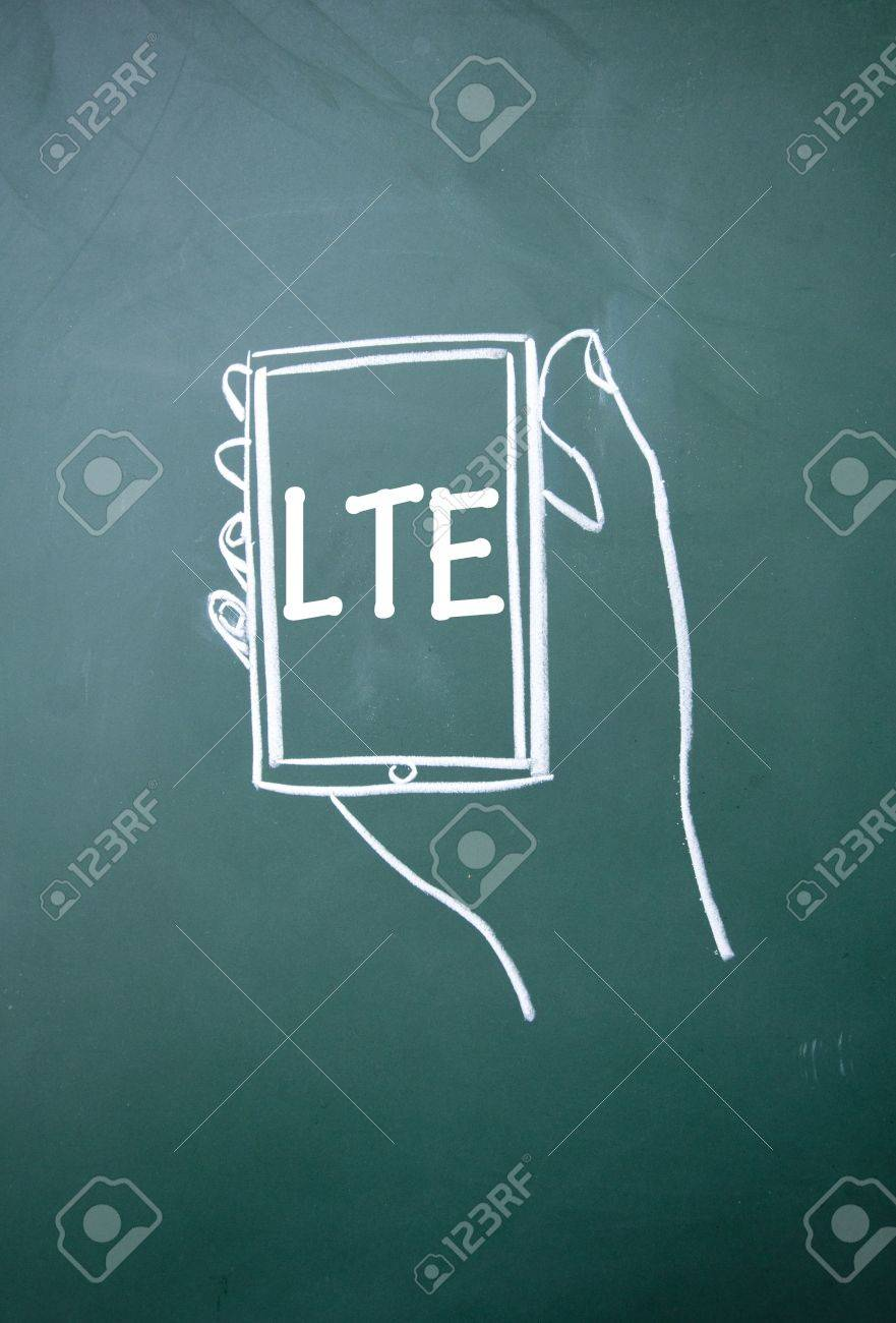 LTE communication technology sign Stock Photo - 15560967