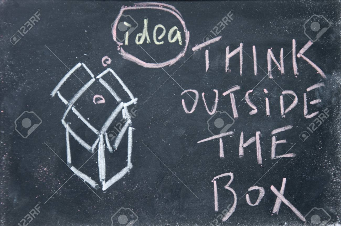 think outside the box Stock Photo - 16075272