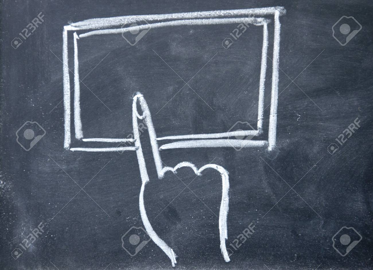 abstract finger touch Tablet PC Stock Photo - 16097917