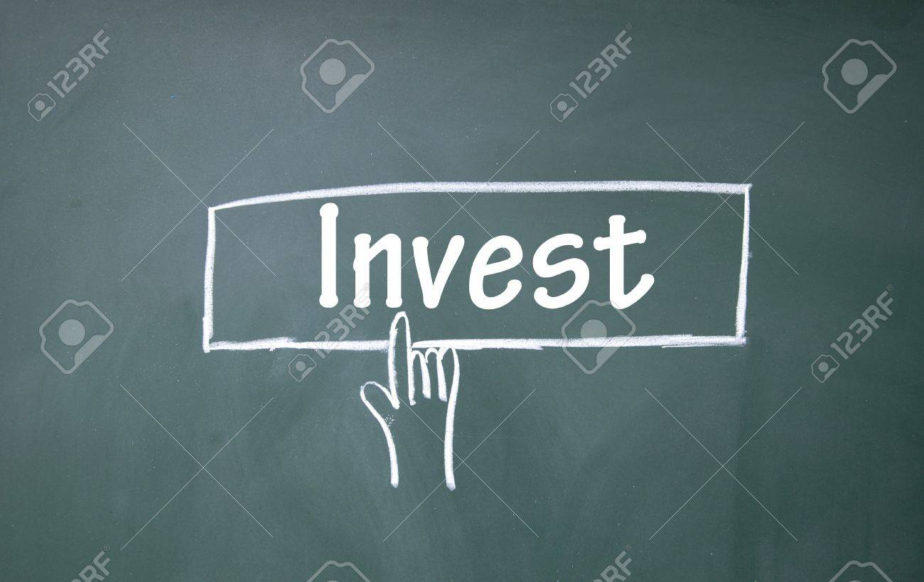 abstract finger click invest sign Stock Photo - 16297073