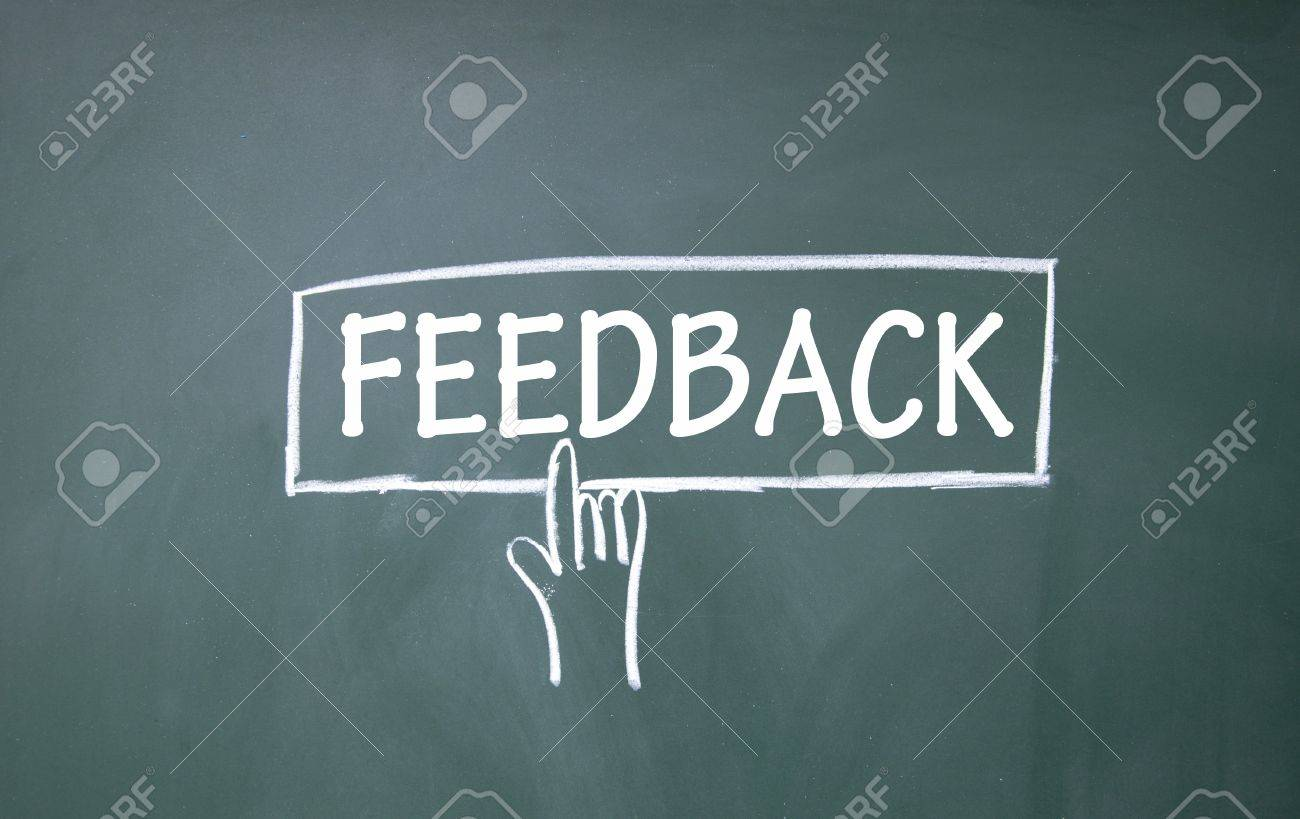 abstract finger click feedback sign Stock Photo - 16447188