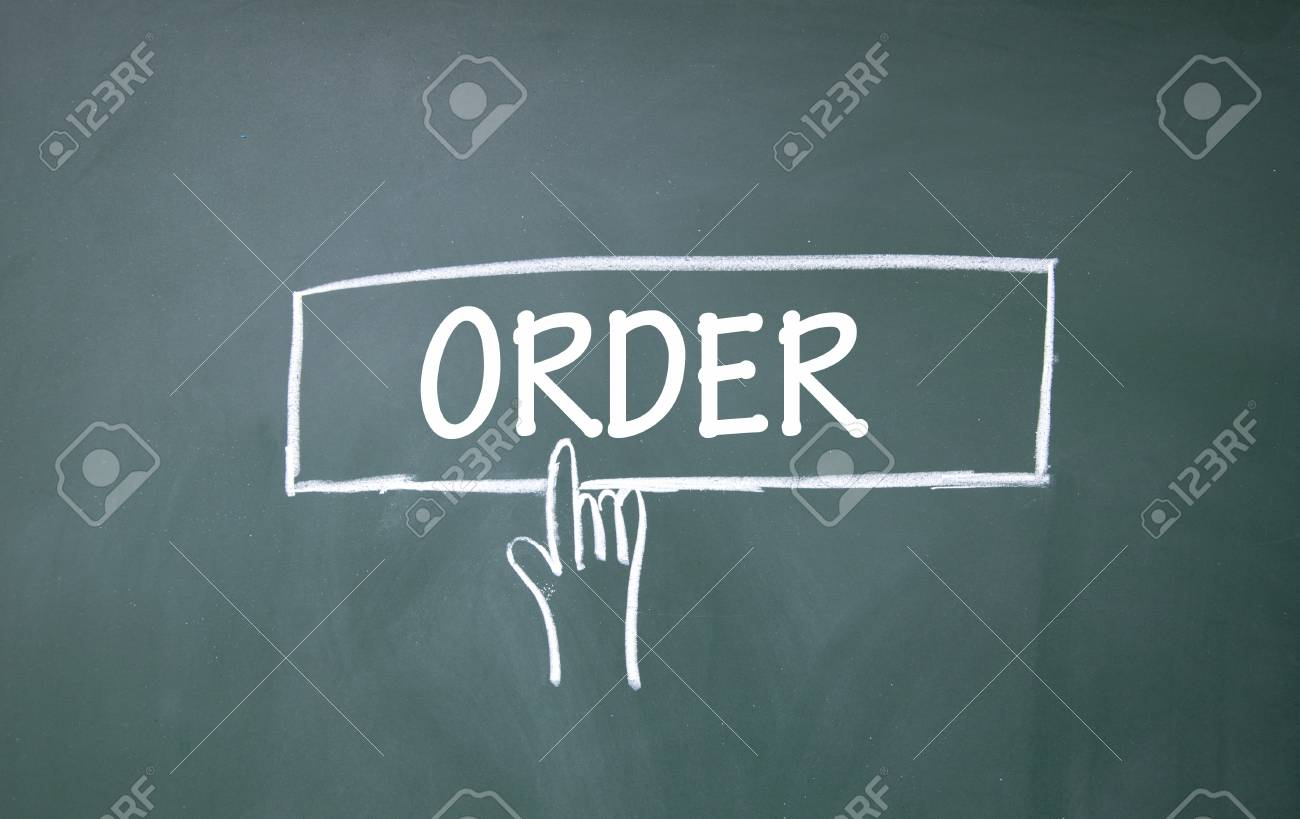 abstract finger click order sign Stock Photo - 16447190