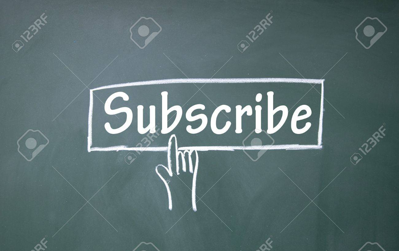abstract finger click subscribe sign Stock Photo - 16447189