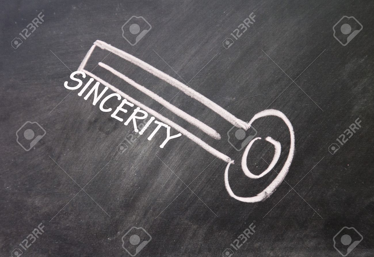 abstract sincerity key drawn with chalk on blackboard Stock Photo - 16613309