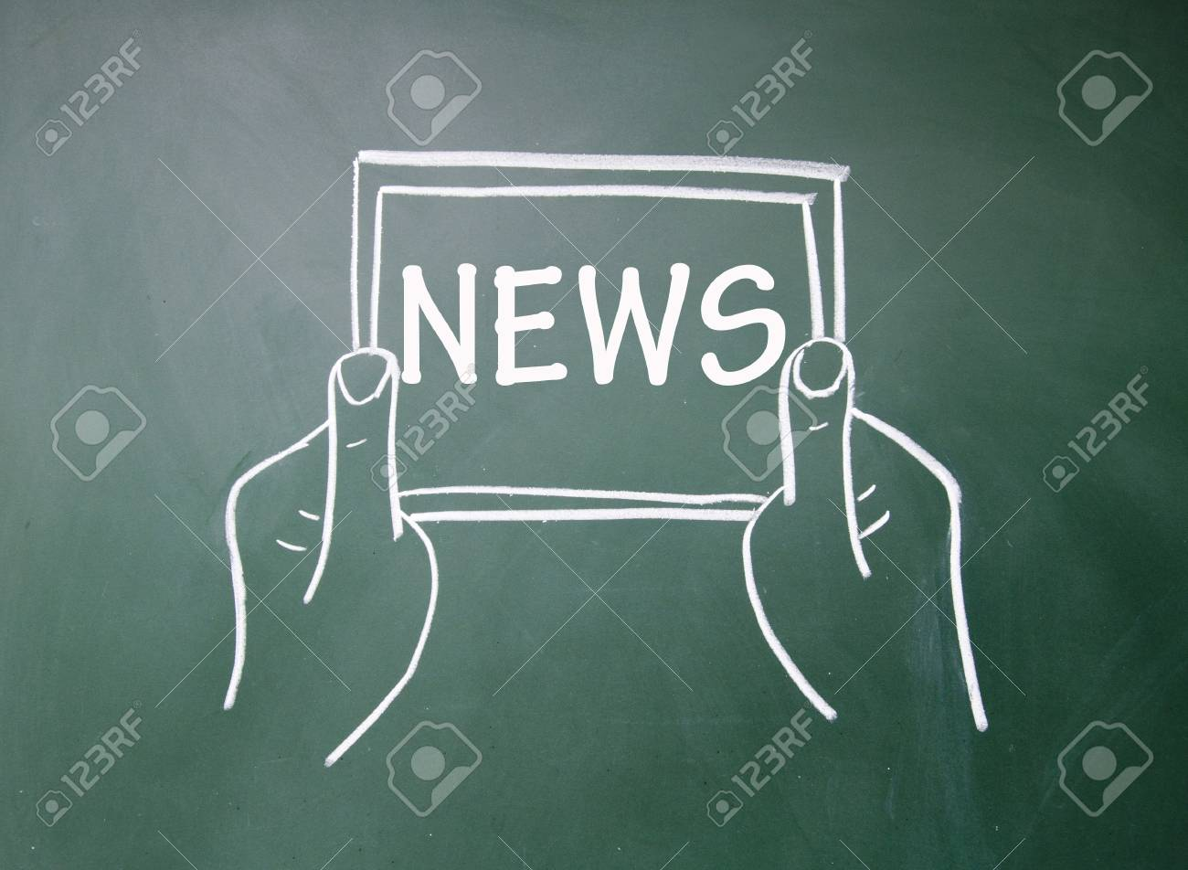 Tablet PC news content Stock Photo - 16612979