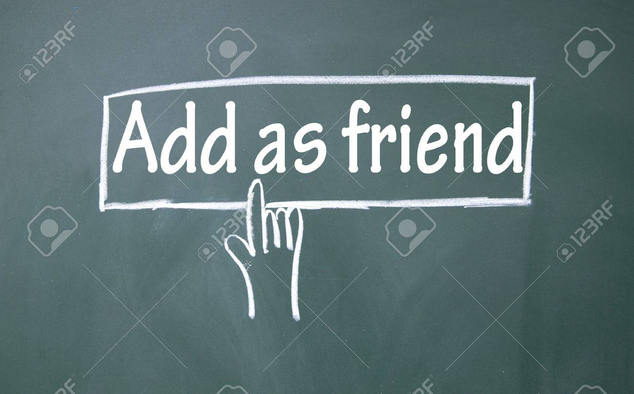 abstract finger click add as friend sign Stock Photo - 16683542