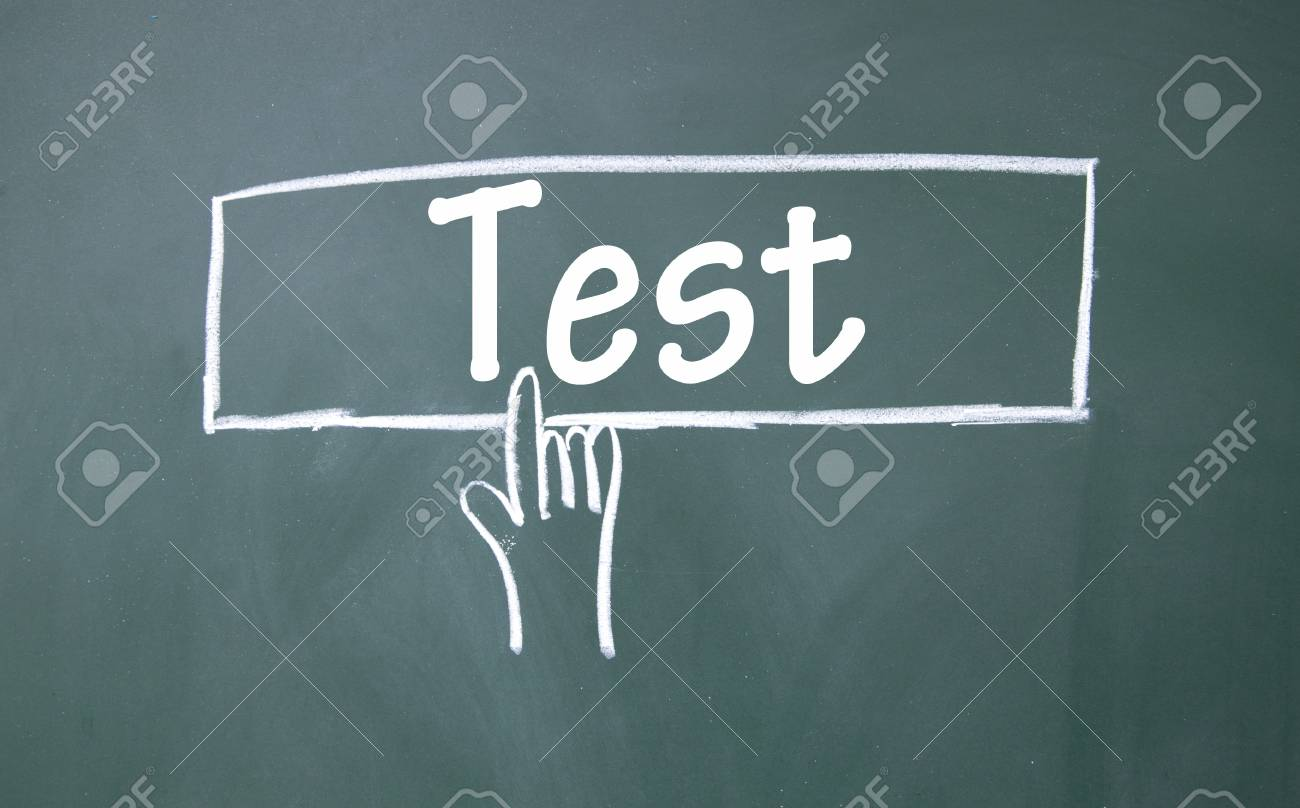 abstract finger click test sign Stock Photo - 16691712