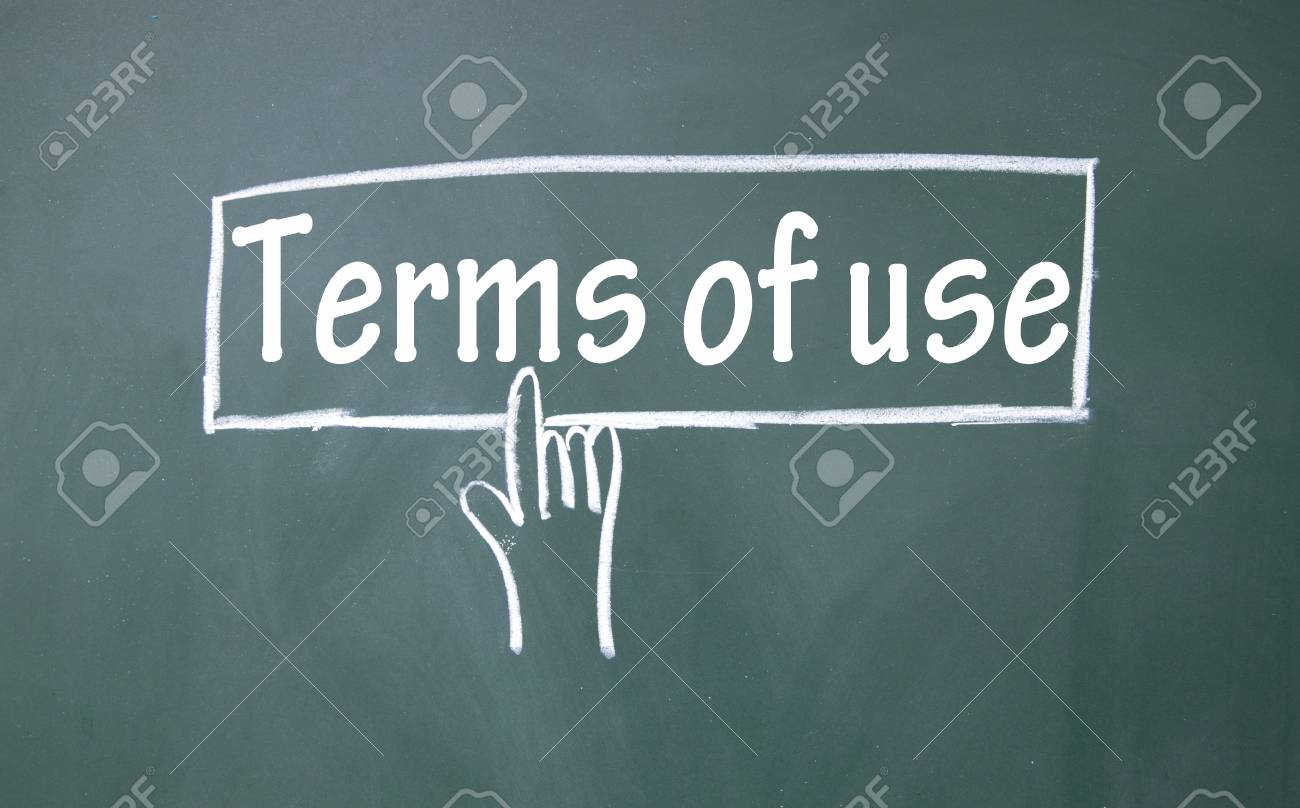 abstract finger click terms of use sign Stock Photo - 16933630